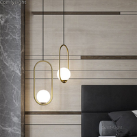 Gold Loft Modern Pendant Light glass lamps LED art deco Hanglamp Kitchen bedroom restaurant Dining Living Room Fixture Luminaire