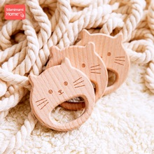 Mamihome 5pc Baby Wooden Teether Lion King Pacifier Chain Pendant Beech Rodent Holder Bpa Free Wodoen Blanks ChildenS Goods Toy