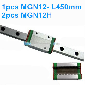 цена на 1pcs MGN12 L450mm linear rail + 2pcs MGN12H
