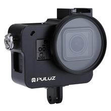Aluminum Alloy Housing Shell Case Protective Cage with Insurance Frame & 52mm UV Lens for Action Sports Cameras