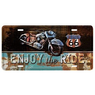 Автобус мотоцикл автомобиль металлический номерной знак винтажный домашний декор жестяная вывеска Бар Паб декоративный металлический знак для гаража металлическая живопись табличка - Цвет: MPA2620