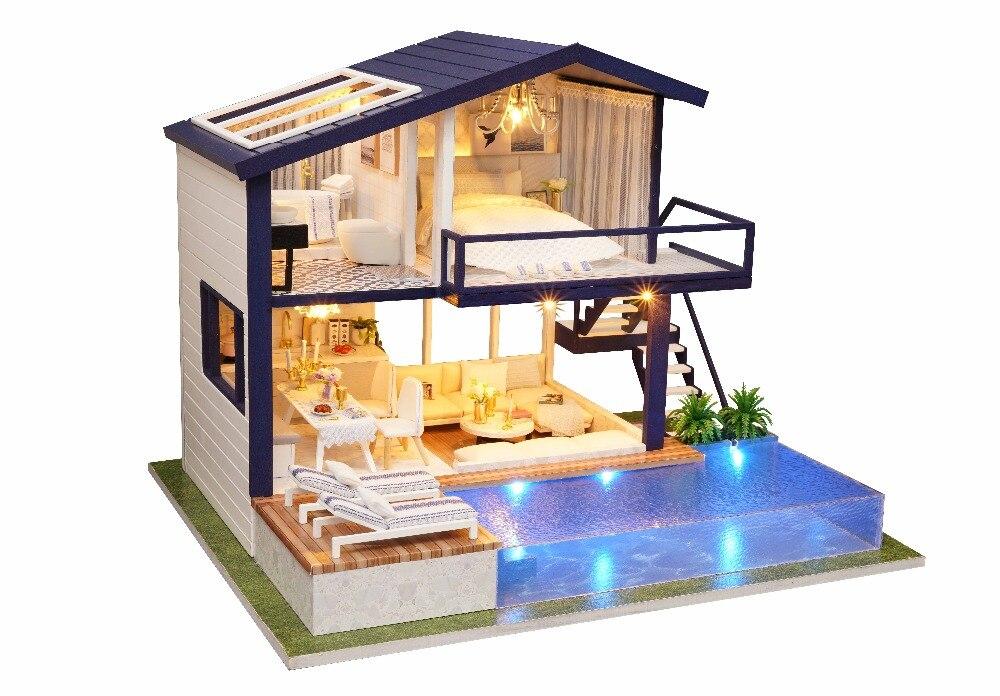 miniaturas casa de bonecas kits brinquedos para crianças presente aniversário