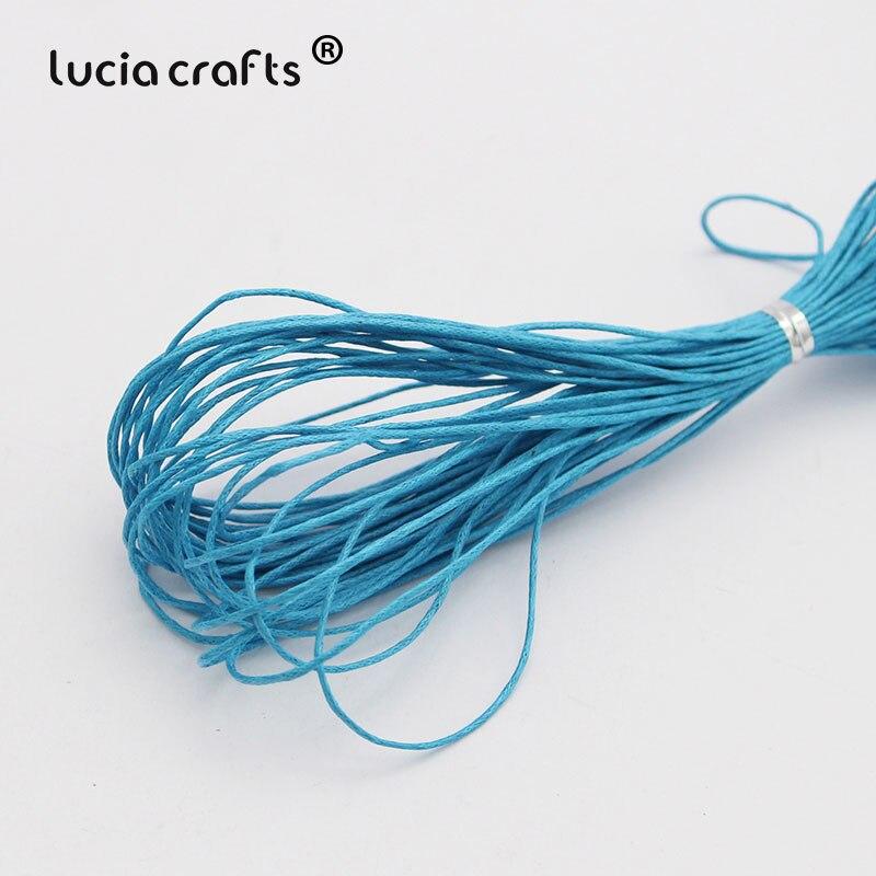 1 мм вощеная нить, хлопковый шнур, веревка, ожерелье, бусы, веревка, цвета, как показано на картинке(10 лет/Лот) W0703 - Цвет: Color 2