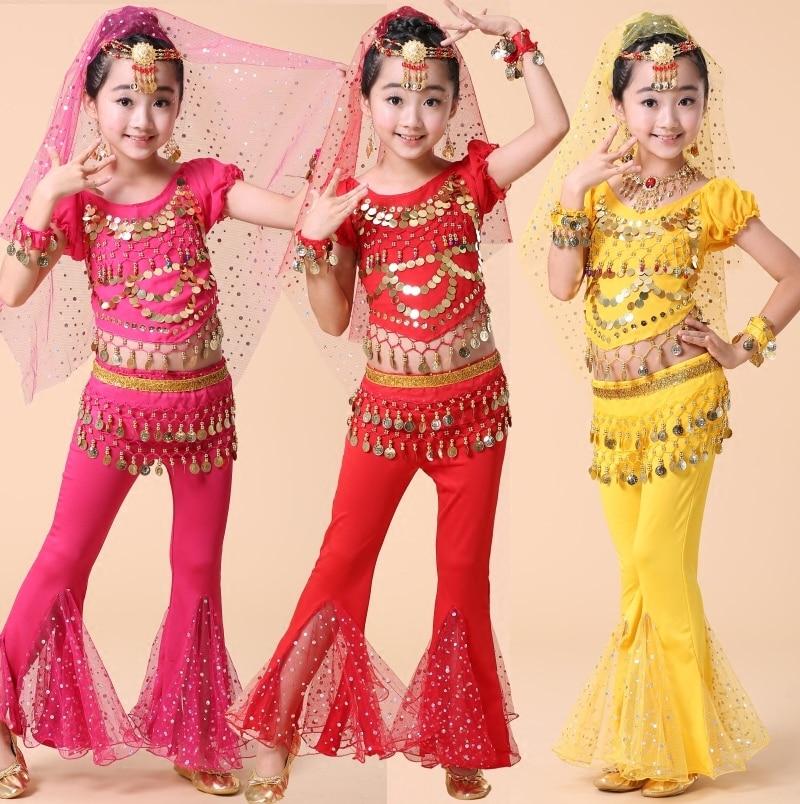 4392902097067 الأطفال Dancewear الاطفال المهنية بطن ملابس رقص لفتاة مصر ازياء بطن الطفل  ملابس رقص للفتيات 4 قطع 1 مجموعة