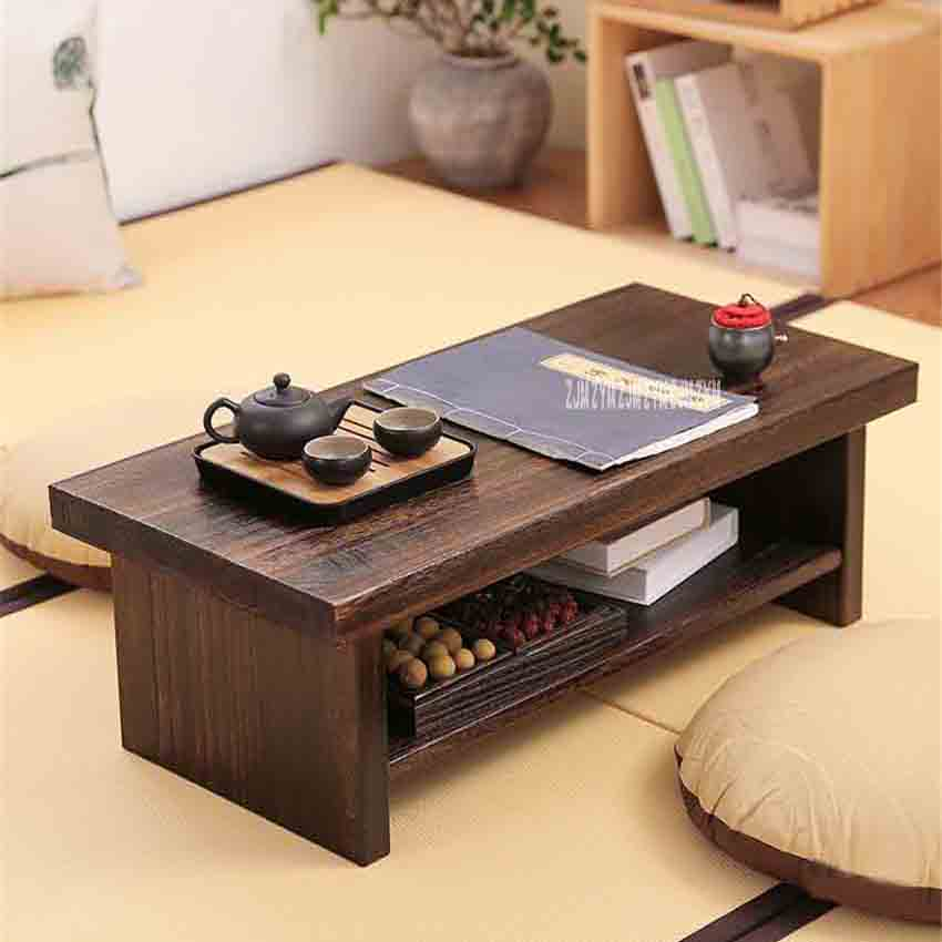 New Tatami Small Coffee Table Japanese Style Solid Wood Antique Tea Table Rectangle Computer Table Living Room Wooden Tea Table original earphone musttrue in ear super bass earbuds with microphone gaming headset for phone iphone xiaomi samsung pc