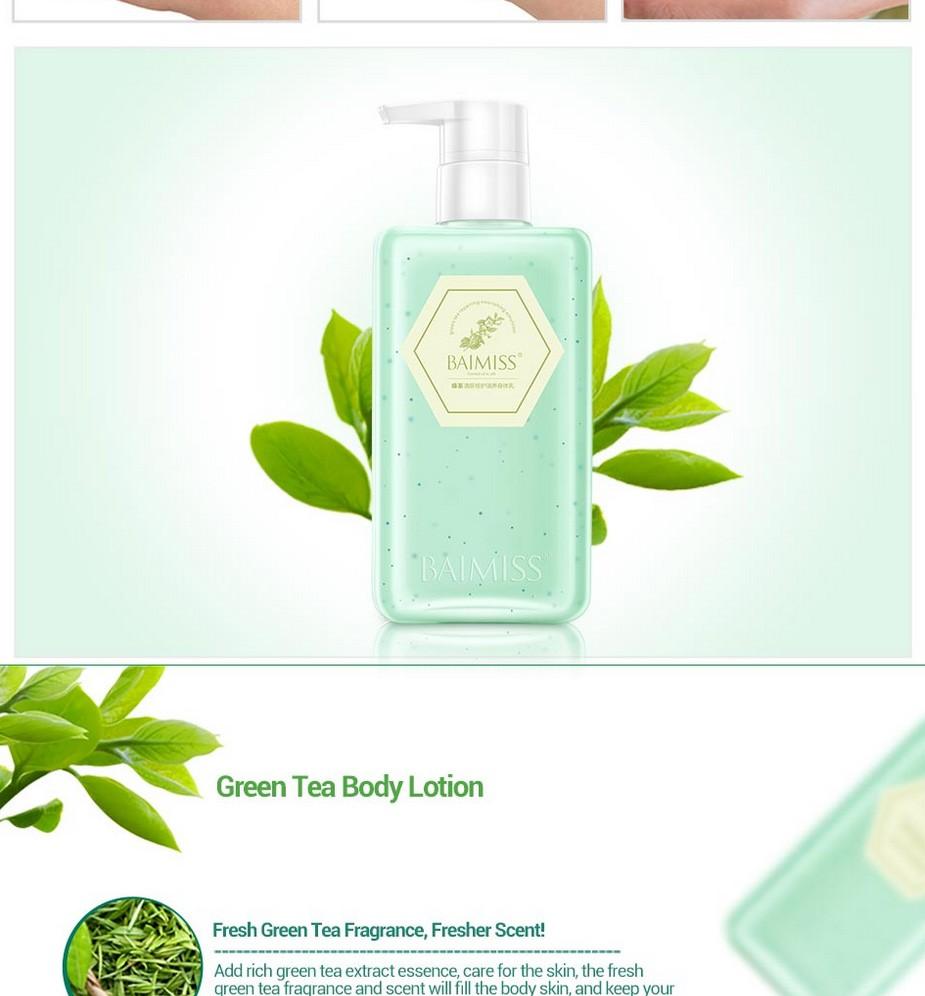 BAIMISS Green Tea Deep Repair Body Cream Body Lotion Moisturizing Soothing Whitening Cream Anti Wrinkle Skin Care Body Care 10