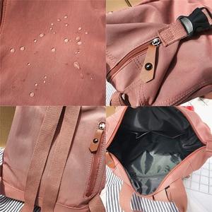 Image 5 - Cute Student Waterproof Backpack Female Women Vintage School Bag Girl ladies Nylon Backpack Long handle Book Bag Fashion Teenage