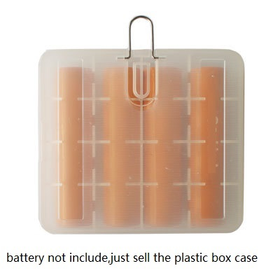 10pcs lot translucent 18650 Battery Storage Box Holder Organizer with hook for hold 4 18650 Batteries 4 cell 18650 battery case in Battery Storage Boxes from Consumer Electronics