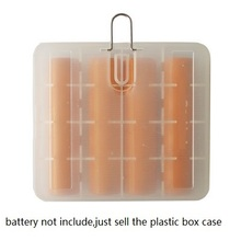 10pcs/lot translucent 18650 Battery Storage Box Holder Organizer with hook for hold 4 Batteries cell battery case