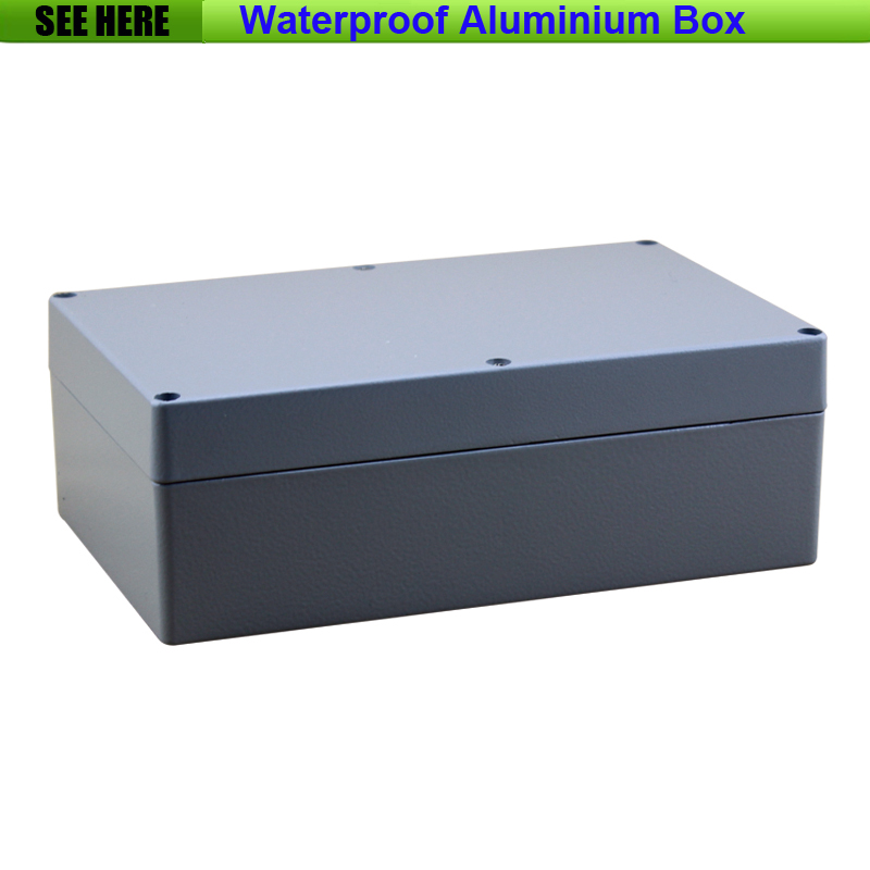 Free Shipping 1piece lot Top Quality 100 Aluminium Material Waterproof IP66 Standard aluminium project box 222