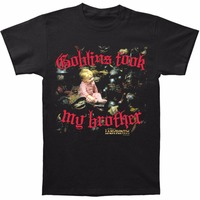 Fashion T Shirts Graphic O Neck Short Sleeve Mens Labyrinth Men S Goblins Took My Brother
