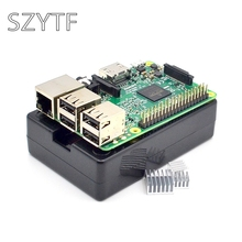 Raspberry Pi 3 Model B Board+black shell Heat sinks 1GB LPDDR2 Quad-Core WiFi&Bluetooth