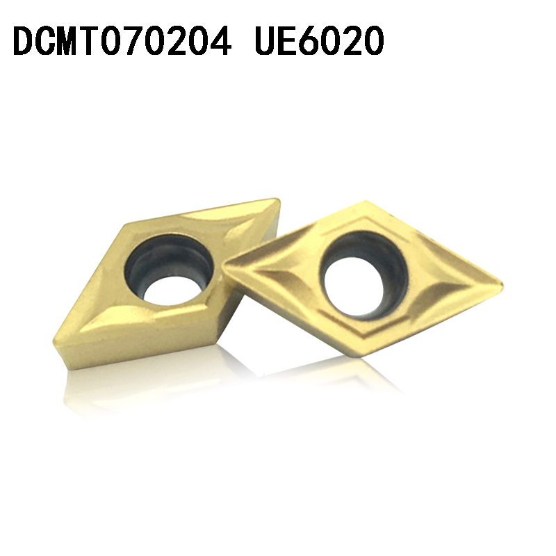 DCMT070204 UE6020 Carbide Inserts Internal Turning Tool DCMT 070204 Face Endmills Lathe Tools Milling Cutter CNC Tool