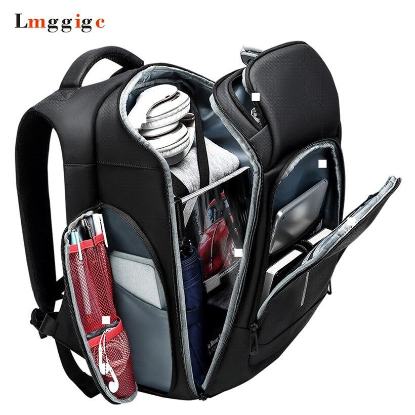 Zoll Tasche Student Laptop Sport Schulter Business Kapazität Tote 6 Tasche Große Rucksack Doppelt Black Reise Mode 15 0YwzOvq