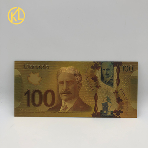 HOT 1pc Currency Banque Du Canada Souvenir Banknote 100 Canadian Dollar Gold Foil Banknote Bill for collection and gifts