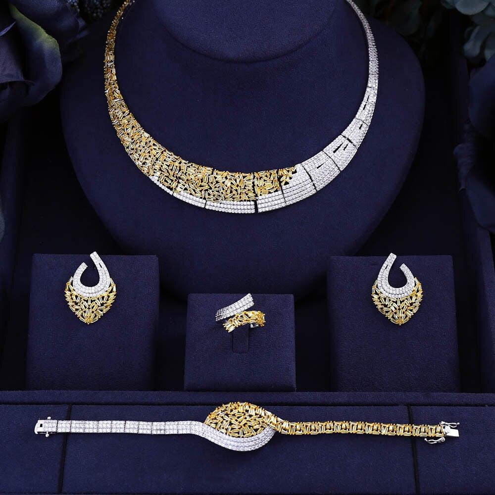 HTB1XHmGXLvsK1RjSspdq6AZepXa9 jankelly Hotsale Nigeria 4pcs Bridal Jewelry Sets New Fashion Dubai Full Jewelry Set For Women Wedding Party Accessories Design