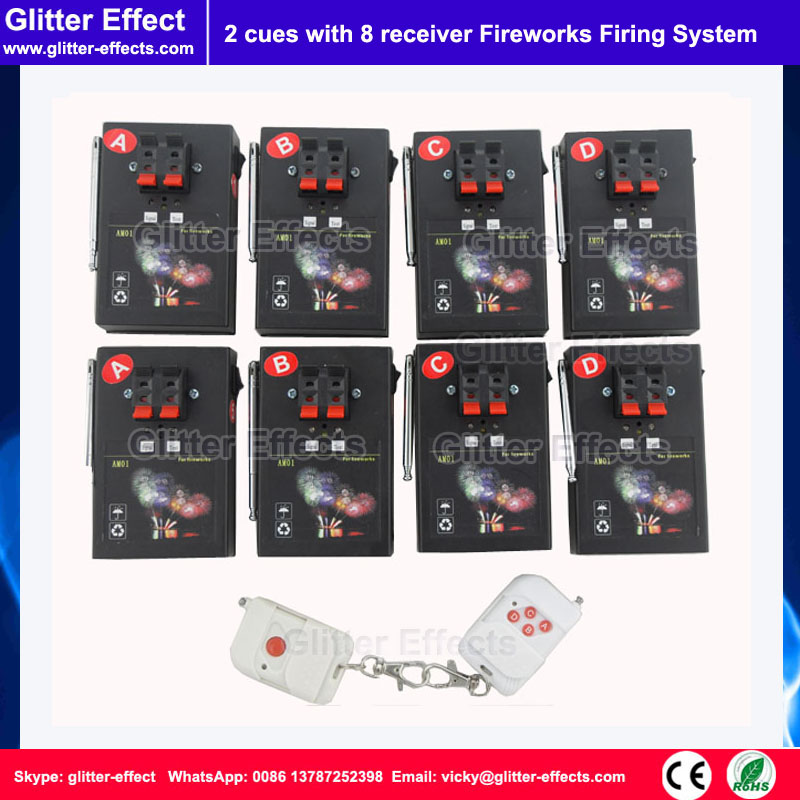 ФОТО 1 button remote control 8 receiver Stage indoor fountain pyrotechnic Igniter Fireworks firing system machine