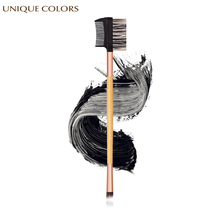 купить UNIQUE COLORS 1Pcs Eyebrow Brush Eyebrow Comb Brush Beauty Bamboo Handle Double Head Eyeliner Eyebrow Eyelash Makeup Brush Tools дешево