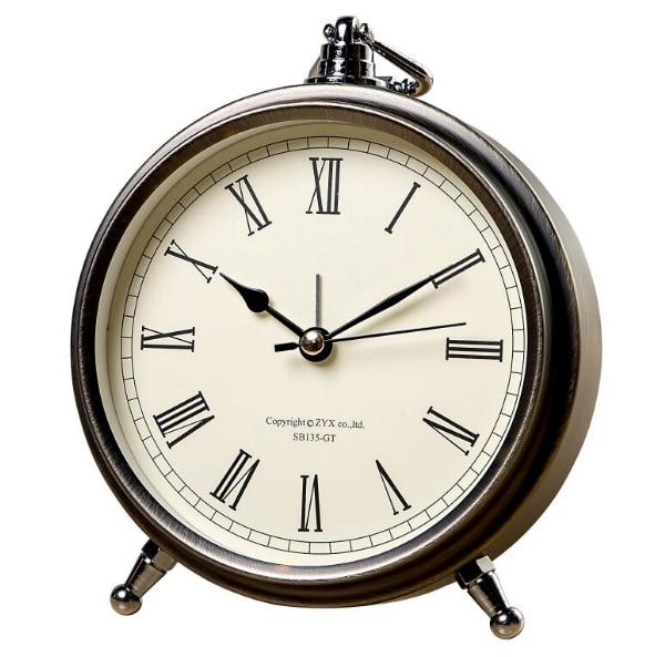 Европейские металлические ретро мини беззвучные будильники для спальни, маленькие настольные часы, подвесные кольца, гаджеты, часы Proyection