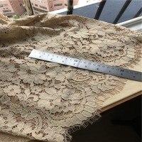 3M/Lot 3 Colors Classical Design Nylon Dress Eyelash 150cm width Lace Fabric DIY Soft Lash Trim French Chantill lace