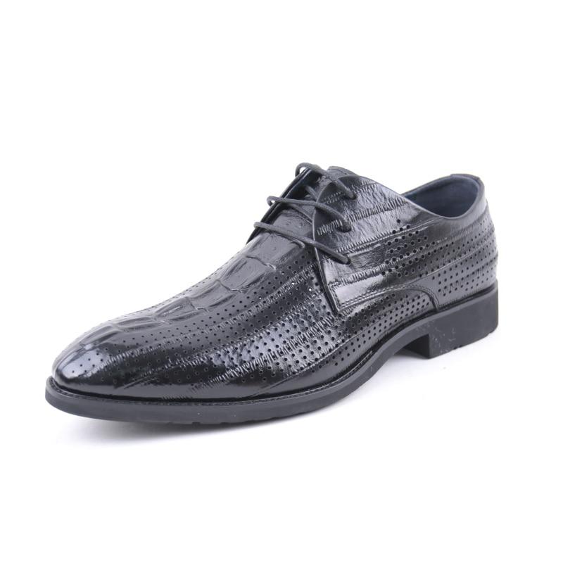 SHUANGFENG Men Formal Shoes 2018 Summer Men's Dress Shoes Genuine Leather Men Shoes Breathable Wedding Shoes zapatos hombre цена