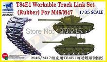 Bronco model AB3566 1 35 T84E2 workable track link set for M46 M47 plastic model kit