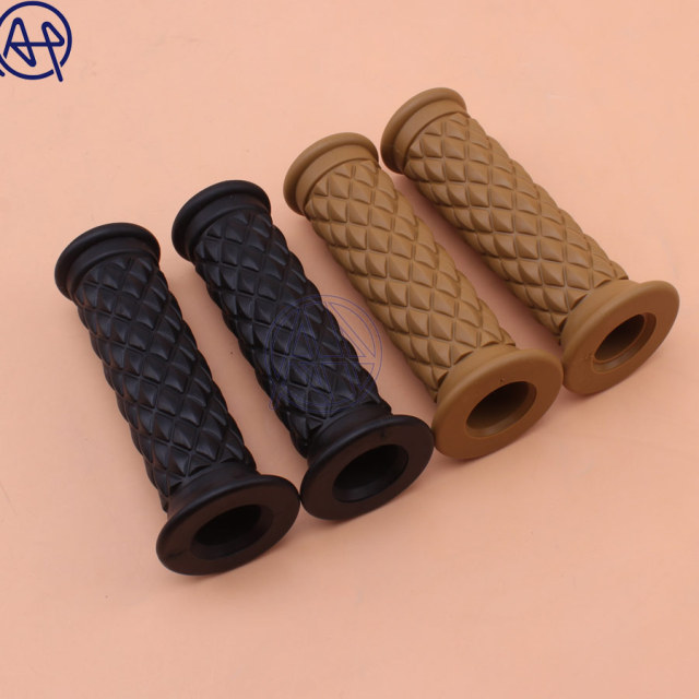 "Motorcycle 7/8"" Retro Vintage Brown Hand Grip Handlebar Grips for Honda Suzuki Kawasaki Triumph Royal Cafe Racer Bobber Custom"