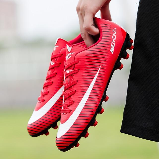 dee6d0ae24 Sufei Homens Sapatos De Futebol AG Futebol Chuteiras Superfly Chuteiras de  futebol Esporte Tênis Sapatas Dos