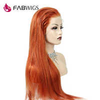 Fabwigs Hair Ginger Color Full Lace Wig Human Hair with Baby Hair Brazilian Remy Human Hair Wigs For Women