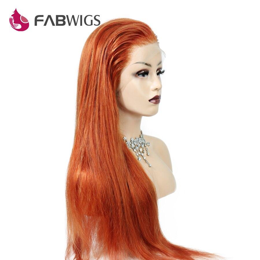 Perruques de cheveux couleur gingembre pleine dentelle perruque cheveux humains avec des cheveux de bébé brésilien Remy perruques de cheveux humains pour les femmes