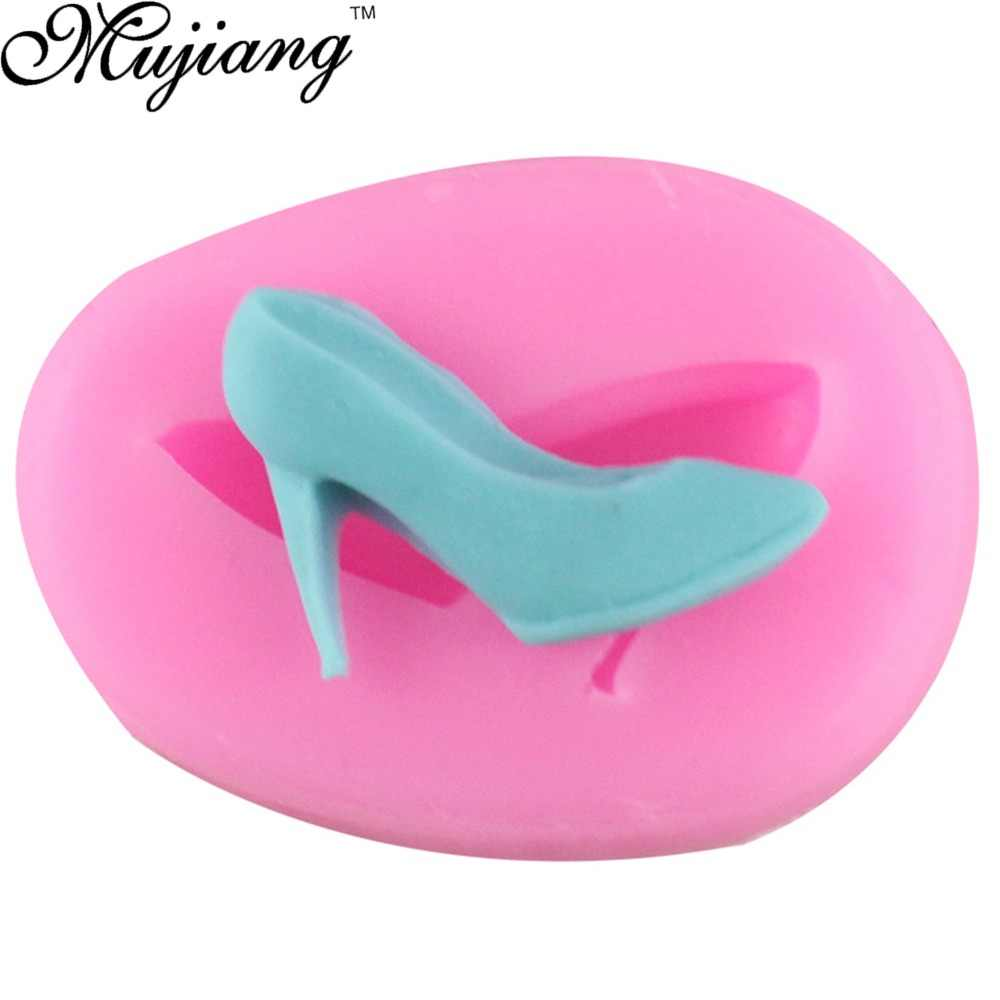 Mujiang DIY נעליים עקב סיליקון שוקולד סוכריות תבניות קוקי יצק תבניות עוגת קישוט כלים חימר שרף סוכריות תבניות