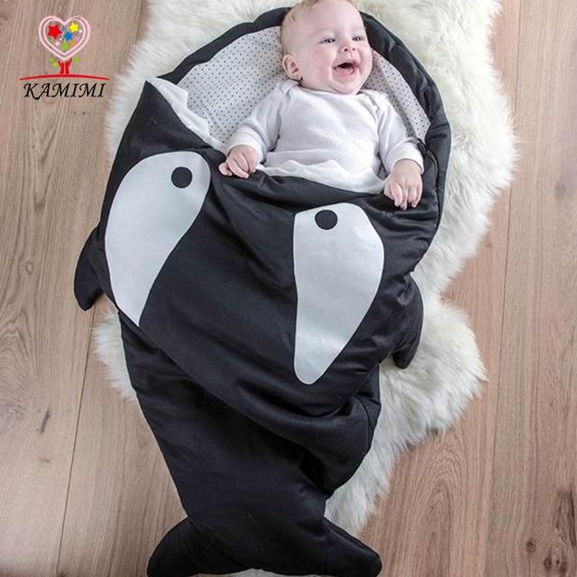 KAMIIMI 2017 New Baby Cotton Sleeping Bag Shark Style Newborn Baby Warm Sleeping Bag Cute Baby Bedding Sleep Bag XYM456