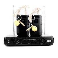 Tie Clip On Mic Lavalier Wireless Microphone Lapel Collar Mike 2 x Channel Cordless Receiver BLX1 Transmitter For DJ KTV Karaoke