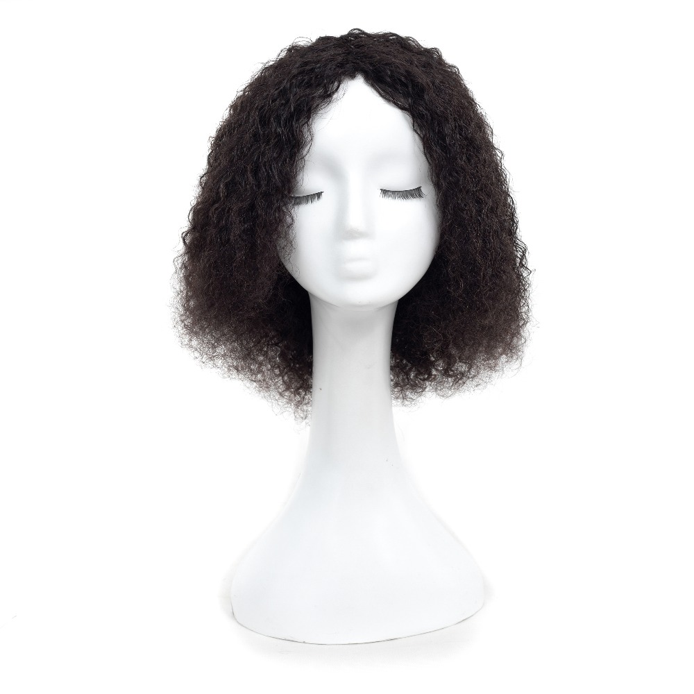 Short Brazilian Afro Kinky Curly Wig Remy Human Hair Curly Bob Wig 10inch Natural Black Full Wigs For Women