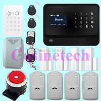 Hot sales GSM WiFi Alarm System with Door gap sensor, IOS/Android APP controlled Home Alarm System with PIR sensor,gas detector