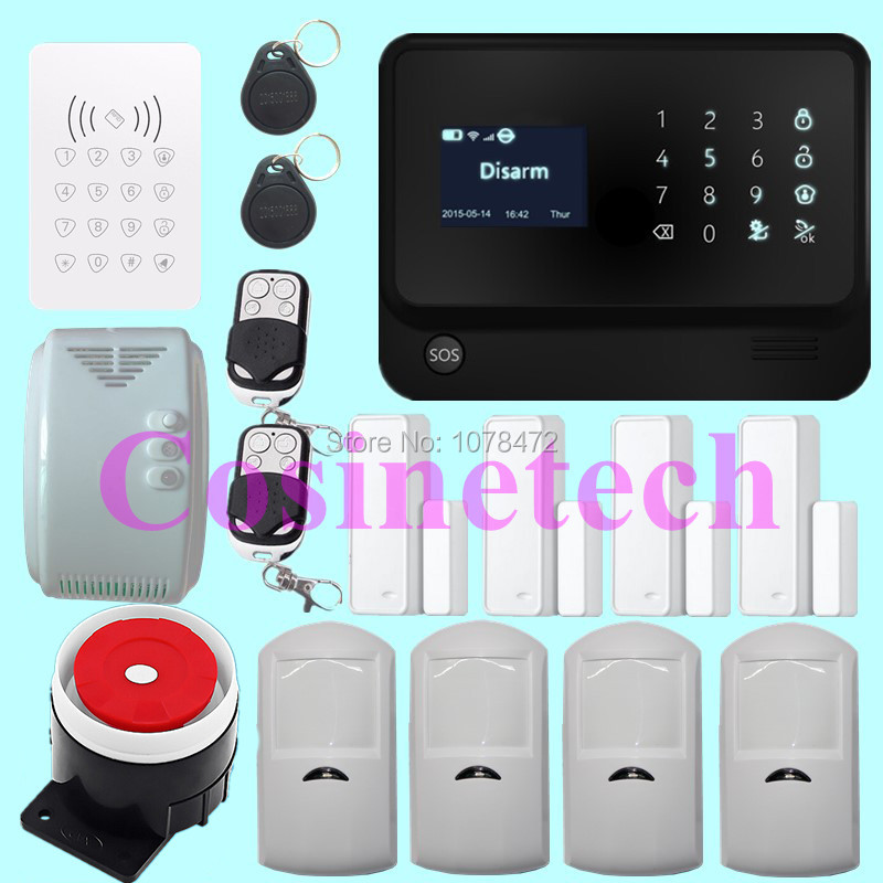 Hot sales GSM WiFi Alarm System with Door gap sensor, IOS/Android APP controlled Home Alarm System with PIR sensor,gas detector wireless gas leakage detector gas sensor with 433mhz works with g9 wifi gsm alarm system