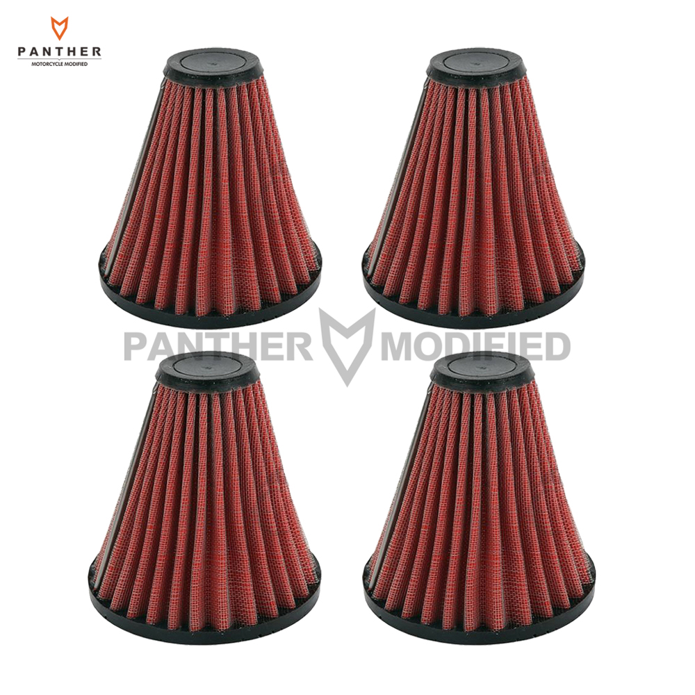 4 pcs motorcycle air filter cleaner element replacement