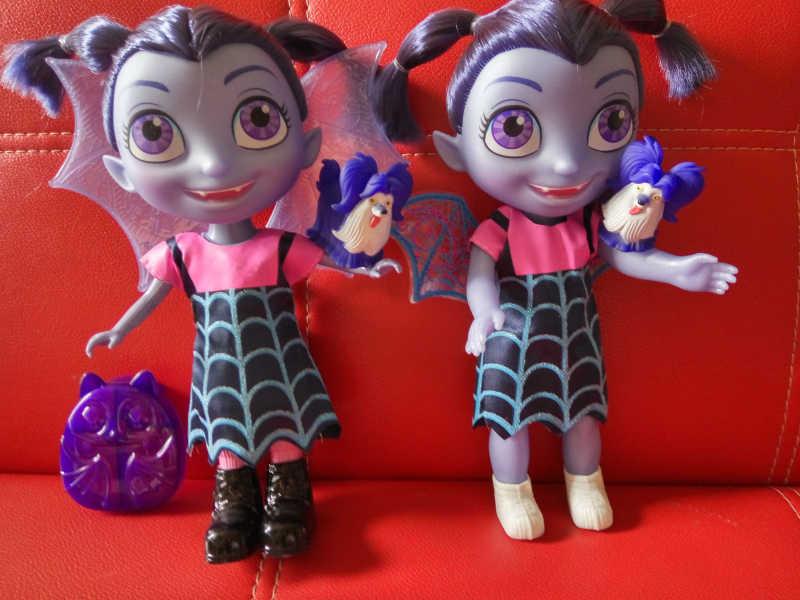 Light & Music 33cm Junior Vampirina Toys Cartoon Dolls Toys Vamp Girl Figure Toys For Children Brinquedos Gift