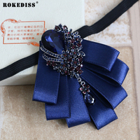ROKEDISS 2017 bow tie Korean version of the high-end bow tie diamond collar flower tide men bow tie wedding groom bow tie Z273