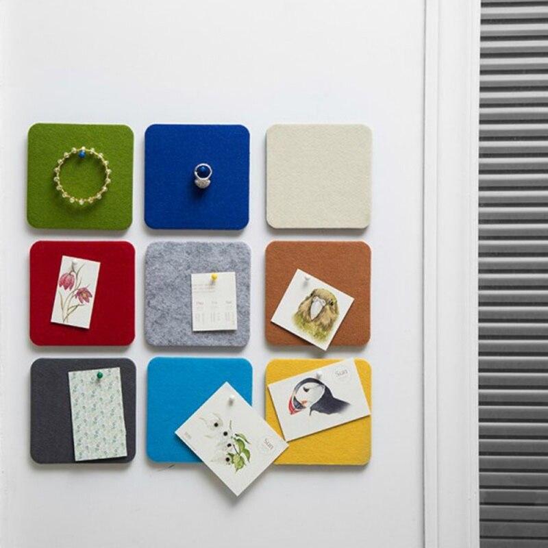 Creative Felt Display Board Geometric Figure Felt Photo Wall Background Wall Sticker Board (including 1*pushpin)