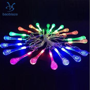 Baoblaze Romantic 20-LED Battery String Lamp Fairy Lights for Party Room Garden Home Diwali Halloween Valentie's Day Decoration image