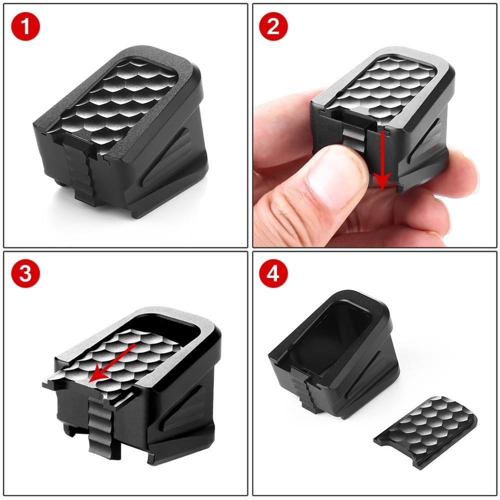 High Quality New CNC Aluminum Made Glock Magazine Base Pad Kit For Glock 17 17C 17L 22 22C 24 24C 31 31C 34 35