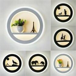 Nowe twórcze światło akrylowe owalne led lampa ścienna do sypialni proste nowoczesne oświetlenie do salonu dekoracji