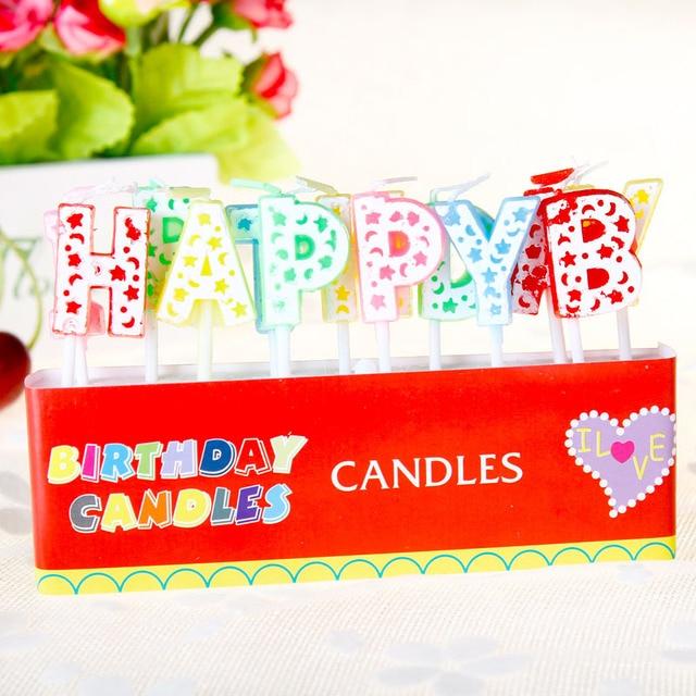 Us 20 1 Set Engels Verjaardag Gelukkige Cake Kaars Baby Party Verjaardag Kaars Decoratie Bruidstaart Creatieve Plaats Feestartikelen In 1 Set