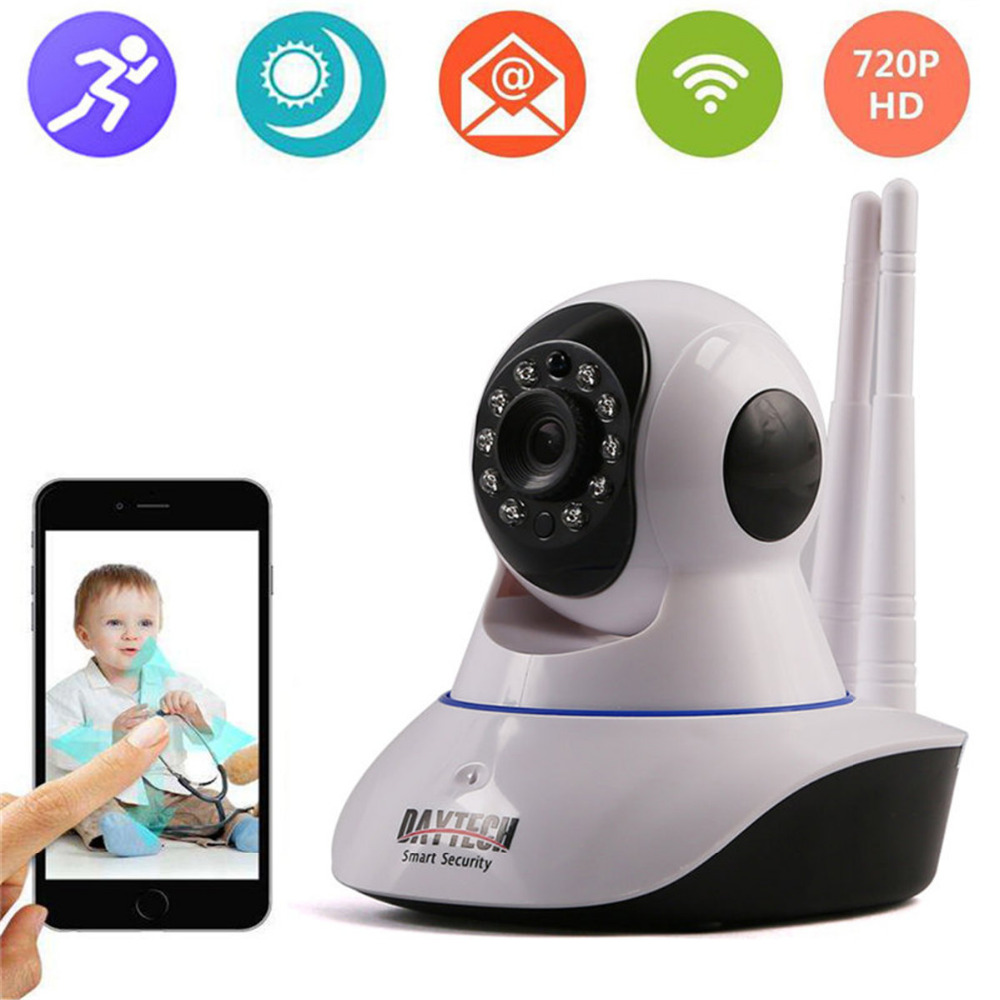DAYTECH Mini WiFi IP Camera Wi-fi HD 720P CCTV Security Camera P2P Video Camcorder IR Cut Two Audio Night Vision For Baby Care howell wireless security hd 960p wifi ip camera p2p pan tilt motion detection video baby monitor 2 way audio and ir night vision