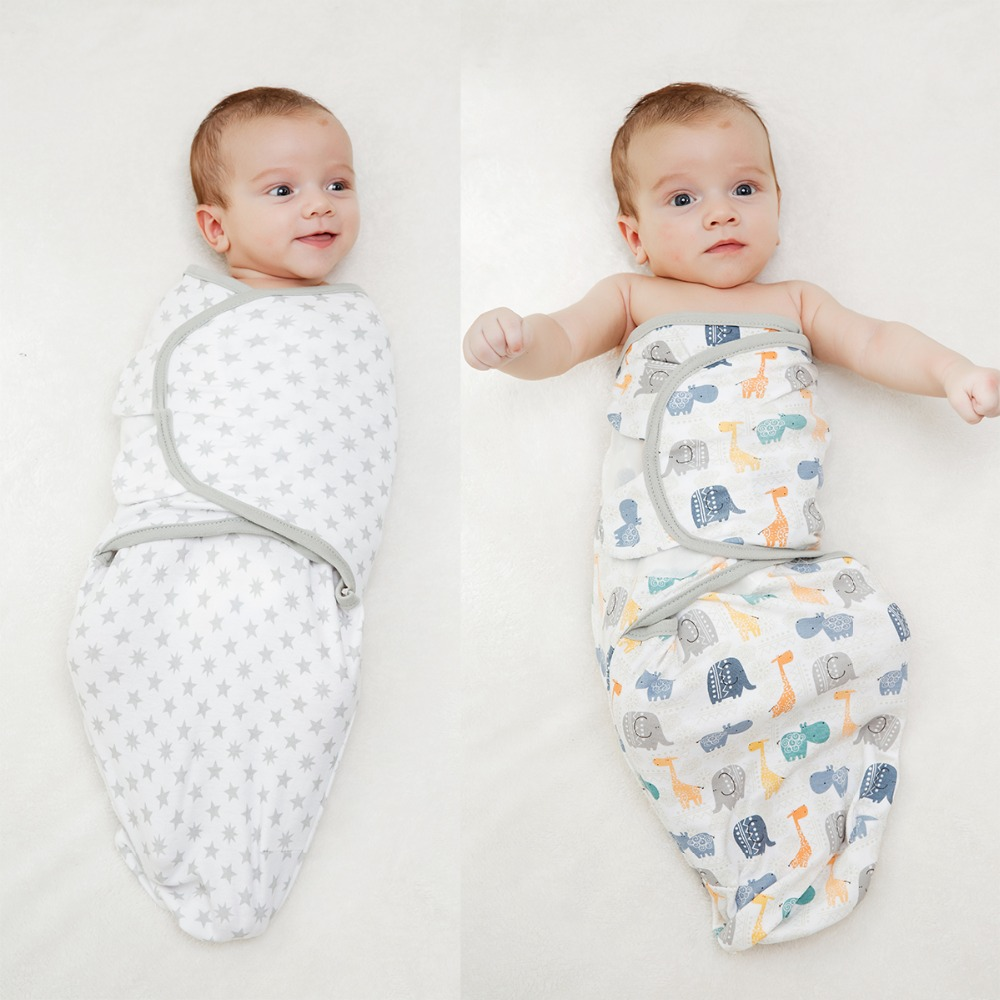 LionBear Baby Swaddle Envelope For Newborns 100% Cotton 0-6 Months Cocoon Baby Sleeping Bag Feeding Blankets Sleepsack Soft Wrap