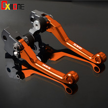 CNC Aluminum Dirt Bike Motocross Pit Pitbike Brake Clutch Levers For KTM 450SMR 2009 450 SMR Orange &Blue &Black with logo