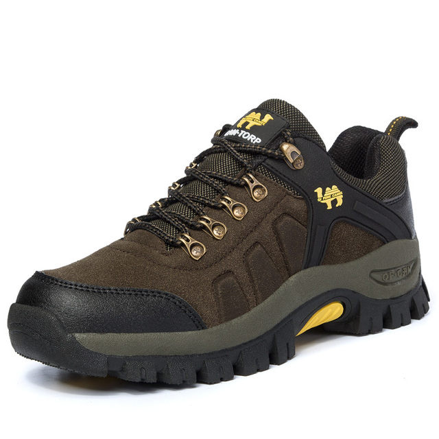 202015 spring and autumn new men outdoor  shoes leather low -top lace mesh casual hiking shoes big size 454647 brand shoes men