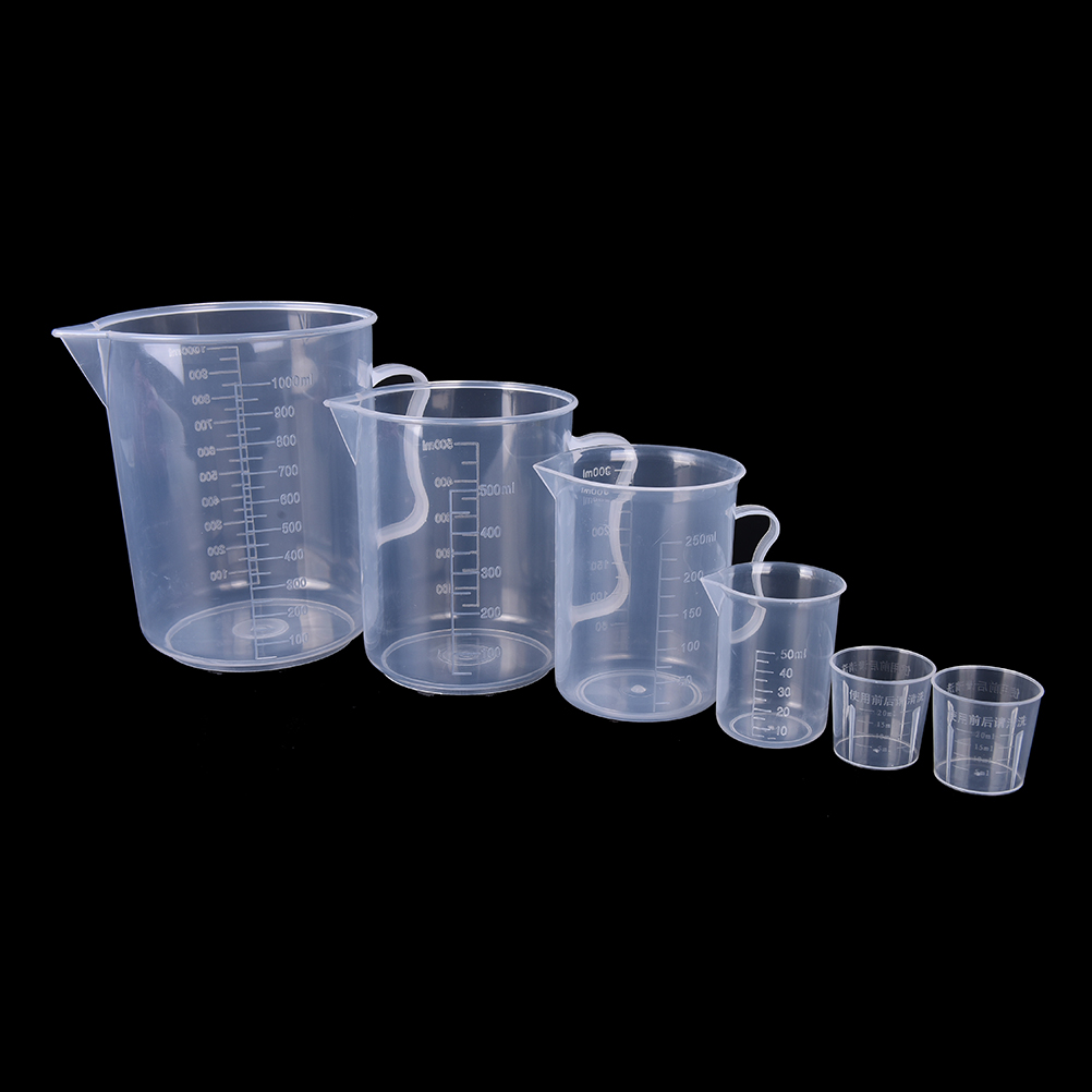 20/30/50/300/500/1000ML PP Plastic Flask Digital Measuring Cup Cylinder Scale Measure Glass Lab Laboratory Tools(China)