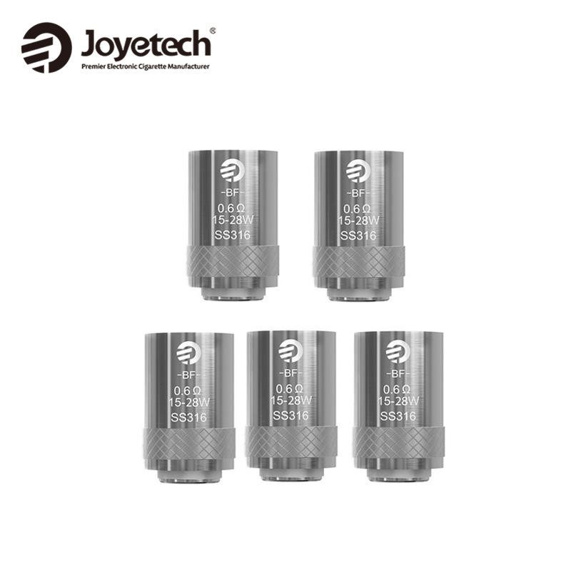 10pcs/lot Original Joyetech eGo AIO Coil BF SS316 Head 0.6ohm Coil for Joyetech ego AIO kit/Cubis/Melo III Mini/ Melo xfkm 5pcs cubis bf ss316 coil 0 5ohm 0 6ohm 1 0ohm ego aio coils evaporators replacement head for cubis pro ego aio kit